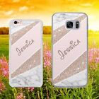 PERSONALISED PINK ROSEGOLD GLITTER MONOGRAM  Phone Case Cover for iPhone Samsung