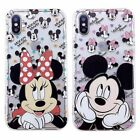 Cartoon Mickey Minnie Soft TPU Clear Case Cover For iPhone 8 X 7 6s Plus