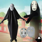 Halloween Spirited Away No Face Man Cosplay Costume Ghost Mask Cloth for 2Colors