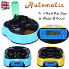 Pet Feeder Dog Cat Food & Water Bowl Automatic Dish Auto Timer Animal Dispenser