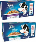 Felix As Good As It Looks Cat Food 40 x 100g Pouches - Mixed and Fish Selection