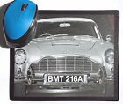 Goldfinger Sean Connery Aston Martin DB5 Classic movie Car poster Mouse Mat Pad