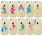 For Apple iPhone 8 8 Plus Watercolor Kids Disney Figures Matte Hard Cover Case