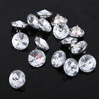 50PC Sofa Upholstery Crystal Rhinestone Diamante Buttons Headboard Round Buttons