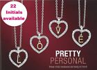 Avon Initial Love Heart Valerie Necklace choice of 22 letters in Gift Box