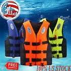 Adult Life Jacket L Preserver Red Fishing Boating Swimming Water Sports PFD Vest