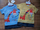 New Baby Boys T.Shirt and Denim Shorts Set by Cheeky Chimp- 100% Cotton