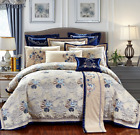 Jacquard Royal Baroque Style Embroidery Duvet Cover Bedding Set High Quality UPS image