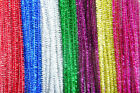"25 - 100 x Glitter / Tinsel Pipe Cleaners 6 "" / 15cm - Festive Xmas Kids Crafts"