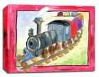 Train Transportation Red, Prints or Canvas Wall Art Decor, Kids Baby Nursery