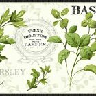 York Wallcoverings Kitchen and Bath KH7039B Aromatique Herb Border, White