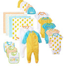 Gerber 19 Piece Baby Essentials Gift Set, NEW BORN 0-3 Mon For Boys or Girls