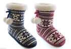 slipper boots size 3/4 5/6 7/8 blue red ladies girls bootie ladys 4to 4 5 to 6