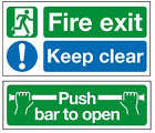 Highest Quality Self Adhesive Fire Exit Door Stickers - Push bar to open