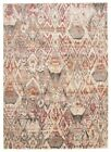 Contemporary Babylon Design Abydos Washed out Floor Area Rug Rust