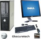 Fast Custom Dell Dual Core Computer PC 4GB DVD-RW Monitor Keyboard Mouse Win 10
