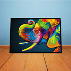 Abstract Colorful Elephant Wall Art Decorated With Canvas Painting Print Picture