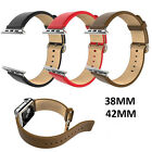 Luxury Leather Wristband Watch Band Strap Bracelet Buckle For Apple Watch iWatch