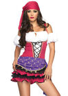 Leg Avenue Women's 3 PC Sexy Gypsy Pirate Wench Costume