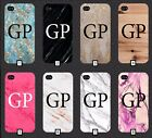 Personalised Marble Phone Case with Initials on Custom 5 SE 6 7 S6 S7 S8 +  m7a