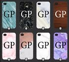 Customised Marble Wood Phone Case Cover Initials Custom 5 SE 6 7 S6 S7 S8 + m6a