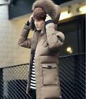 NEW Men's Warm Down Cotton Jacket Fur Collar Thick Winter Hooded Coat Outwear Pa