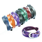 Buckle Bracelet Wrist Double Wrap Genuine Leather Punk Wristband Cuff Colorful