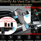 Universal Gravity Car Mount Air Vent Phone Holder Cradle For iPhone Samsung GPS