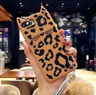 Bling Diamond Fluffy Ball Ears Leopard Cat Soft Case Cover for iPhone 8/6/7 Plus
