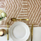 Rose Gold Geometric Sequin Table Runner - Ready to ship from the UK