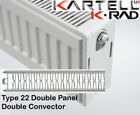 Kartell K-Rad Double Panel Type 22 Compact Radiator 750mm High Various Widths