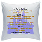 "Designed White Cushions 18"" - Disney Quotes - In Our Loving Home - Style 2"