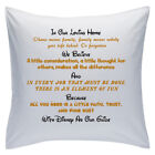 "Designed White Cushions 18"" - Disney Quotes - In Our Loving Home - Style 3"