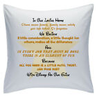 "Designed White Cushions 18"" - Disney Quotes - In Our Loving Home - Style 11"