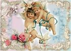 Whimsy Dust Cherubs & Roses Quilt Block Multi Sz FrEE ShiP WoRld WiDE (W39