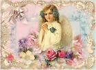 Whimsy Dust Angel & Roses Quilt Block Multi Sz FrEE ShiP WoRld WiDE (W34