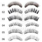 2 Pairs/4 Pcs Triple Magnetic False Eyelashes Full Strips Cilia Wispy Long Lash