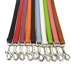 Leather Dog Leads Leashes 100 cm Long 1 cm Wide, Long Dog Lead