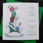 PERSONALISED Handmade CHRISTMAS CARD -  Presents and SLeigh - (x603)