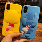 Cute Stitch Winnie Alien Rugged Rubber Soft Case Cover for iPhone X 8 6S 7 Plus