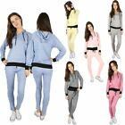 New Ladies Lounge Wear Women Pullover Joggers Set Fine Knit Tracksuit Pants 8-14