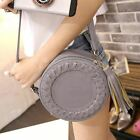 Round Shape Pu Leather Solid Color Cross Body Bag For Women Vi795