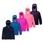 Regatta Lever Girls Hooded L'weight Waterproof Breathable Jacket