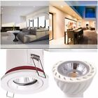 1/4/6/10/20/30 X FIRE RATED WHITE IP20 Ceiling Downlights & 5Watt LED BULB