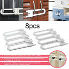 4/8/12Pack Toddler U Shape Safety Cabinet Door Drawer Lock For Child Baby Kid