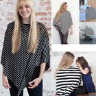 Nursing Breastfeeding Cover Scarf Baby Car Seat Canopy Diagonal Stripe Shawl
