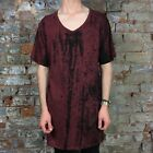 Krew Longline Printed Casual Short Sleeve T-Shirt New in Red - Size: L