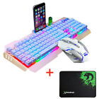 Wired M398 Backlit Usb Ergonomic Gaming Keyboard + Gamer Mouse Sets + Mouse Pad