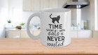 TIME SPENT WITH CATS IS NEVER WASTED, CAT LOVERS CERAMIC COFFEE MUG, 11,15 oz