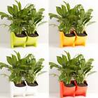 2 Pocket Wall Planter Stackable Self Watering Hanging Flower Pots Garden Decor
